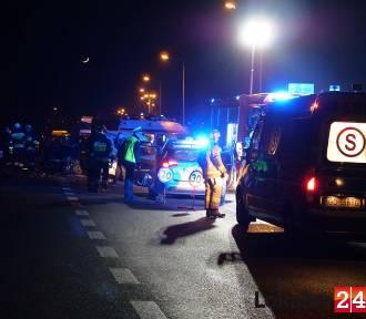 Wypadek na obwodnicy Kędzierzyna-Koźla. Trzy osoby ranne
