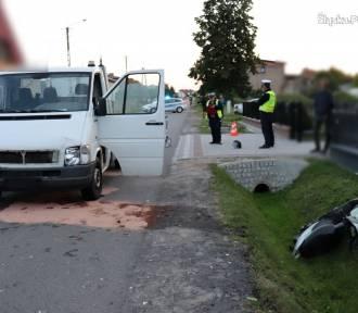 Wypadek w Przystajni. Kierowca potrącił motorowerzystę