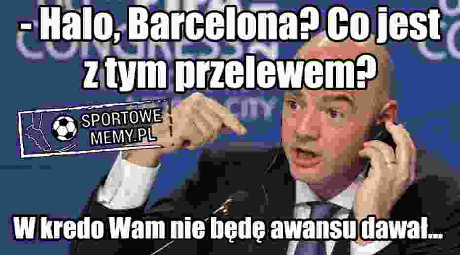 MEMY Barcelona - Juventus. Tym razem nie było remontady, Juve gra dalej