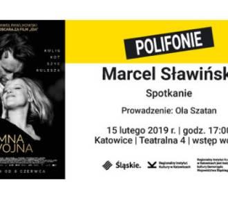 """Spotkanie z Marcelem Sławińskim, autorem scenografii do """"Zimnej wojny"""", w Katowicach"""