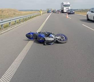 Wypadek motocykla na S5 [ZDJĘCIA]