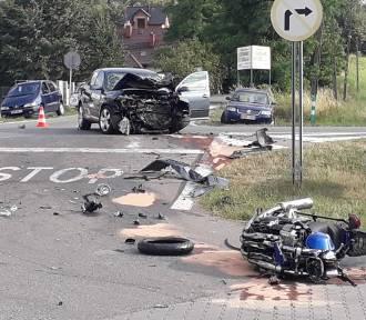 Dramatyczny wypadek na DK 94. Nie żyje motocyklista