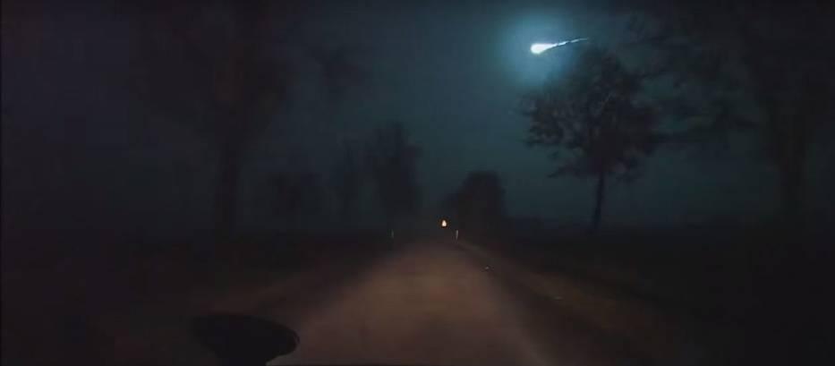 Meteor nad Polską. Kadr z nagrania internauty