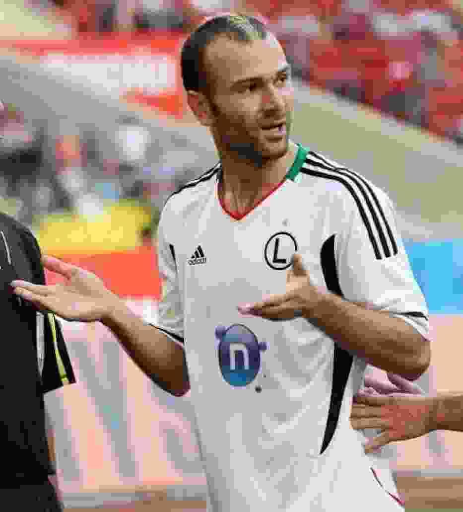 Danijel Ljuboja, podobnie jak cała Legia w słabym stylu wszedł w grę w rundzie wiosennej