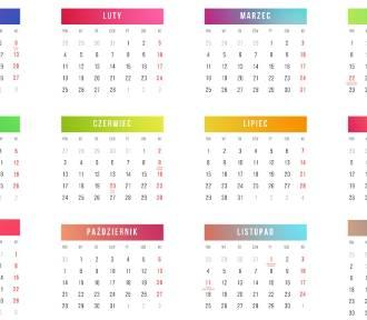 KALENDARZ DNI WOLNYCH 2019 - kiedy wziąć wolne, by mieć dłuższy urlop?