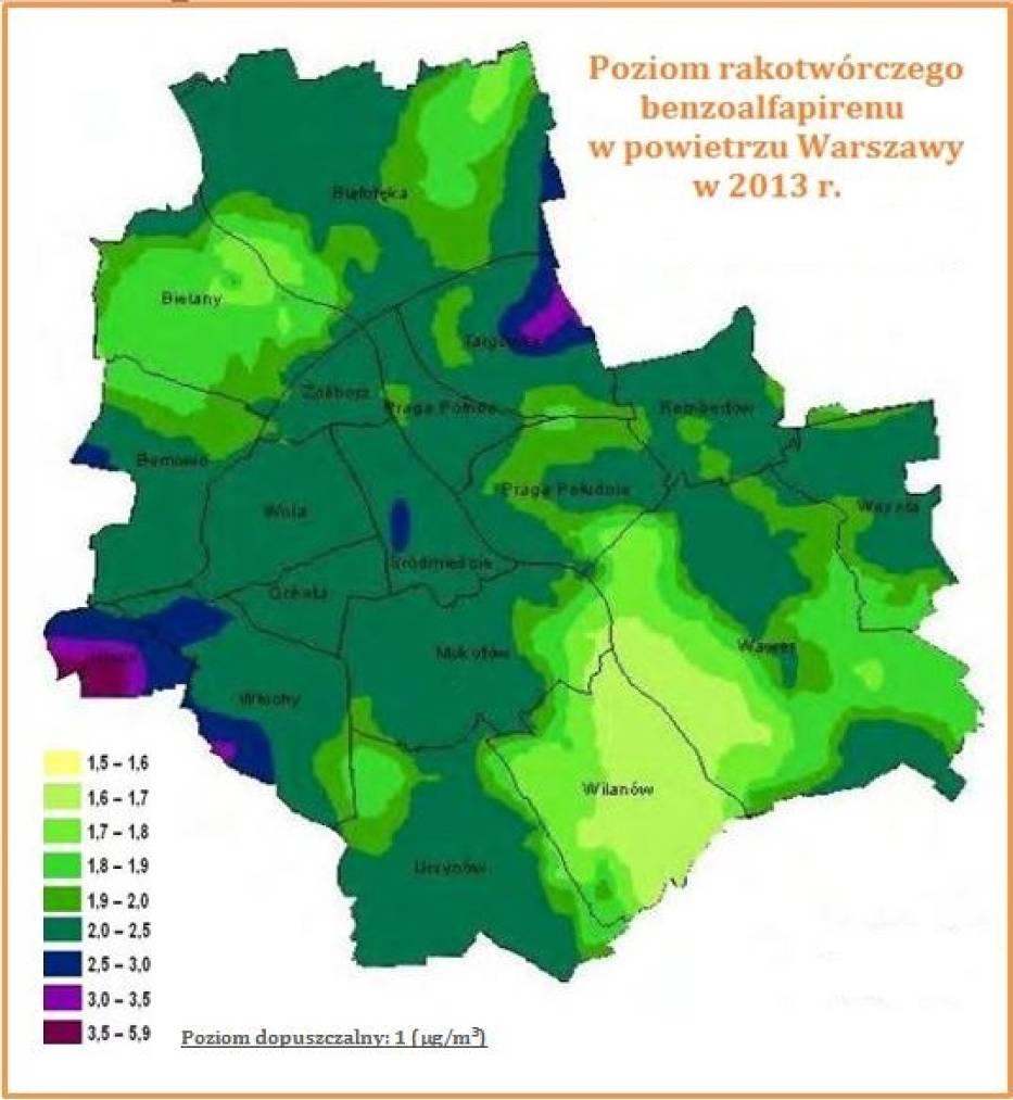 Zanieczyszczona Warszawa Naszemiasto Pl
