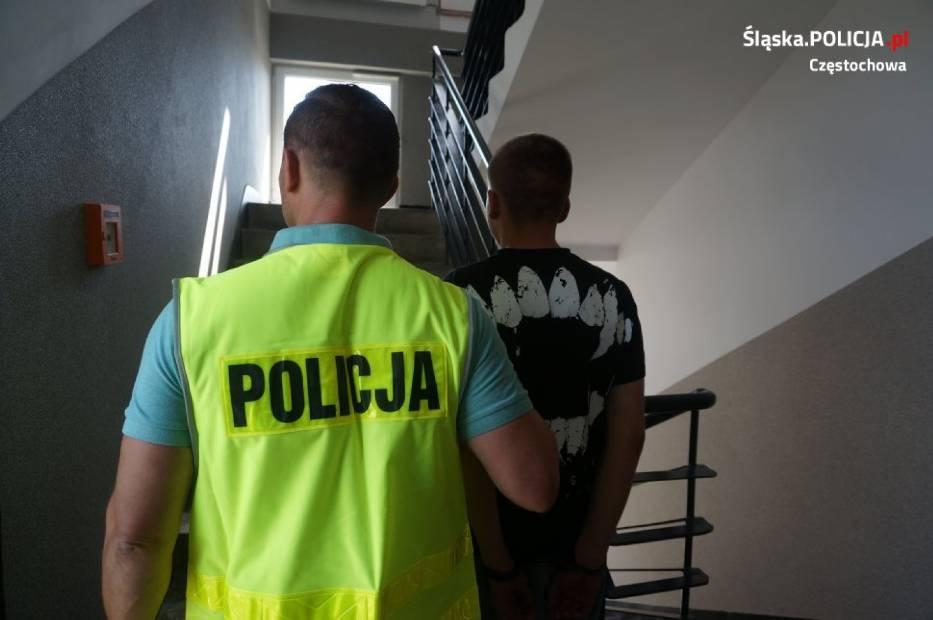 Częstochowa Szybka Reakcja Policjantów I Złodziej Zatrzymany