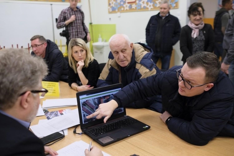 Spotkanie prezydenta Michała Zaleskiego z mieszkańcami Stawek [zdjęcia]