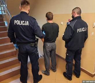 W Ostrowcu poszukiwany wpadł, bo prawo było mu nie po drodze