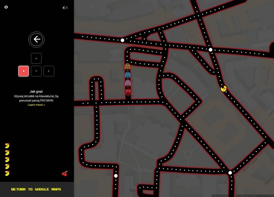 Ms. Pacman na ulicach Warszawy? Google udostępnia popularną grę na swoich mapach