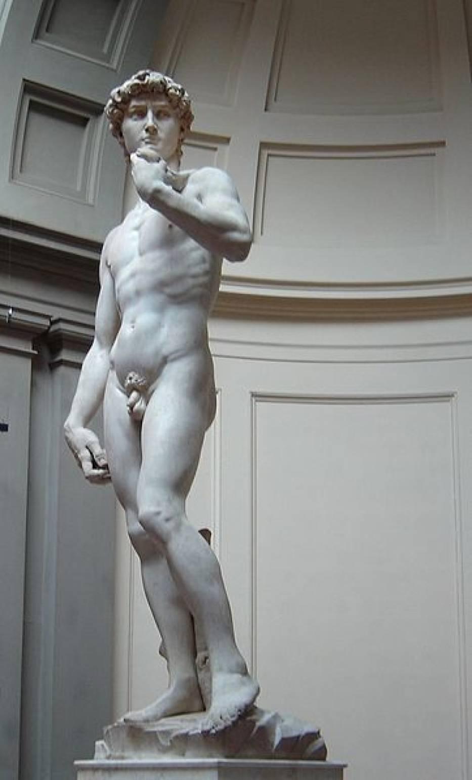 Michał Anioł, Król Dawid przed walką z Goliatem