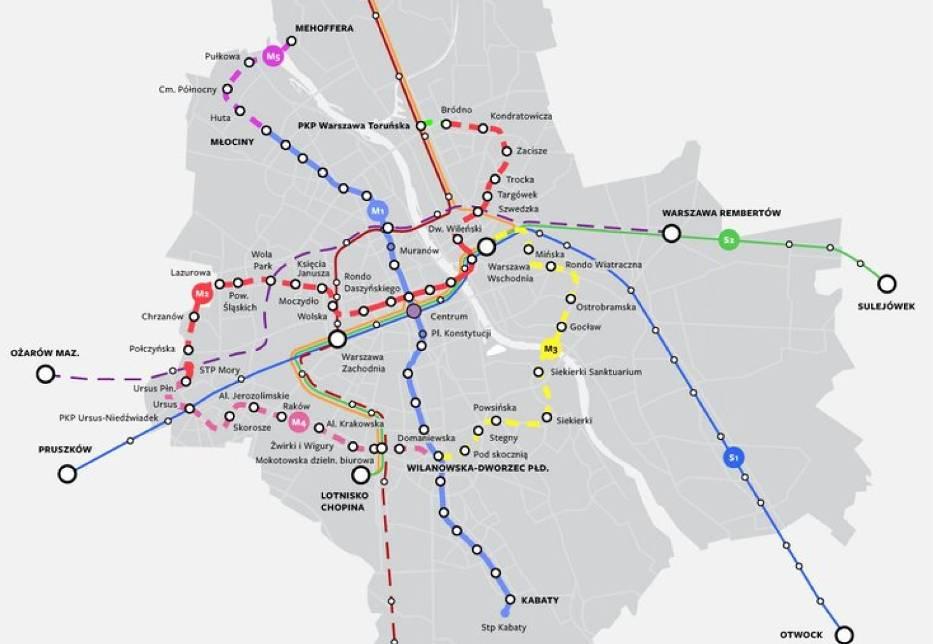 Metro w Warszawie. Wkrótce powstaną trzy nowe linie. Oto dokładne plany. Gdzie dojadą?