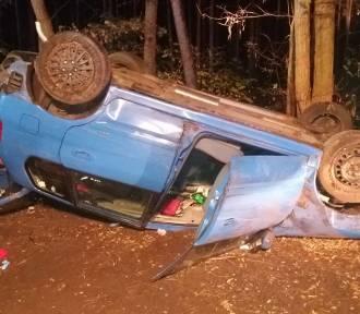 Groźny wypadek. Kierowca został przewieziony do szpitala. Po wyzdrowieniu stanie przed sądem