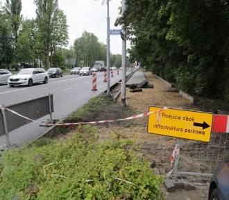 Droga rowerowa zamiast miejsc postojowych na ul. Kościuszki