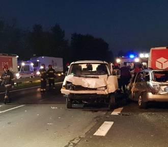 Karambol na trasie S1 w Sosnowcu. Są ranni