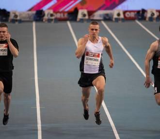 Dominik Kopeć sprinter Klubu Sportowego Agros Zamość z rekordem życiowym