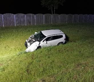 Nocny wypadek na autostradzie A2 pod Wąsowem [ZDJĘCIA]