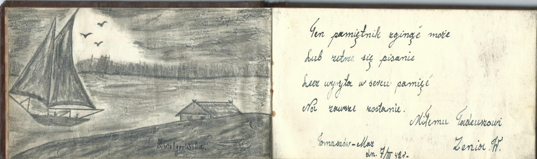 Wnętrze pamiętnika Tadeusza Bartosiaka ps