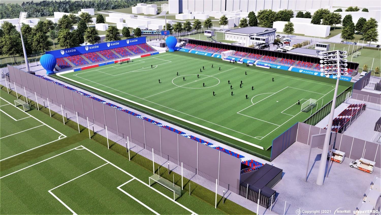 Tak na wizualizacjach prezentuje się stadion Rakowa Częstochowa