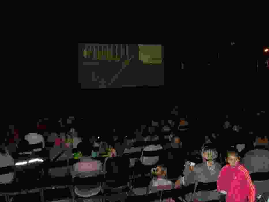 Plenerowe kino pod gwiazdami na Placu Słonecznym w Libiążu
