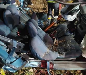 Tragiczny wypadek koło Kórnika: Nie żyje dwóch 18-latków