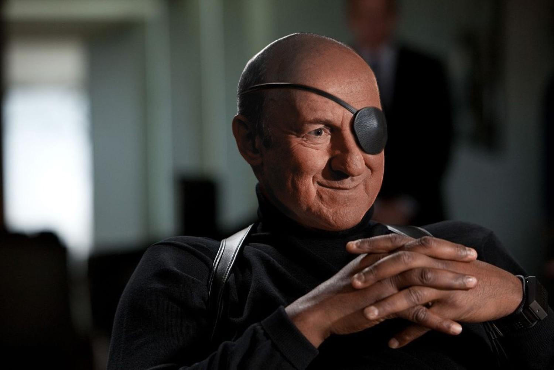 Nick Fury - Piotr FronczewskiNick Fury, pierwotnie agent CIA, wkracza w świat Avengersów trochę przypadkiem