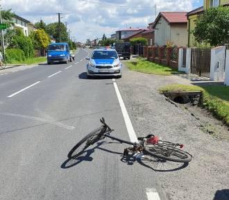 Wypadek na ul. Brzeźnickiej w Radomsku. Rowerzysta w szpitalu