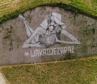 #wakacjezaraz Taki mural można podziwiać przy S3 w Gorzowie!