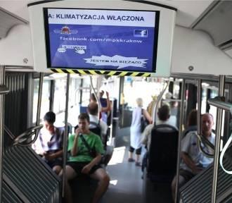 Upał w krakowskich tramwajach. Mieszkańcy są zirytowani