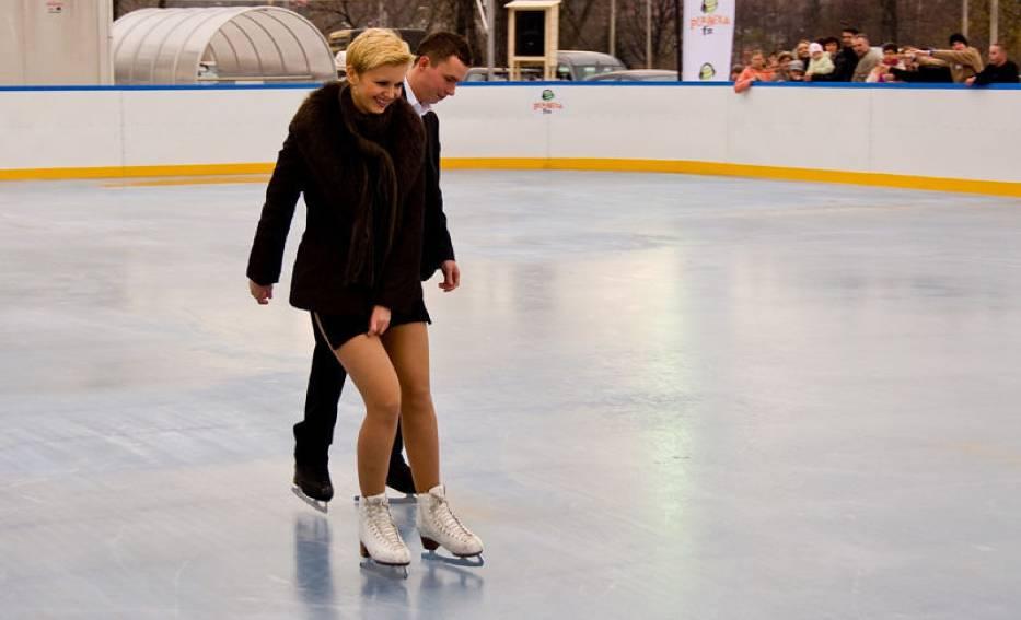 Olga Borys na lodzie