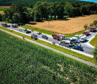 Wypadek na trasie do Wyrzyska. Zderzyły się cztery auta