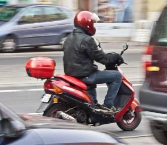 Pijany jechał na motorowerze bez kasku wioząc 4-letnie dziecko!