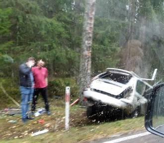 Tragiczny wypadek koło Żedni. Nie żyje 61-latek