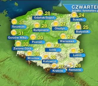 Pogoda na czwartek, 17 czerwca