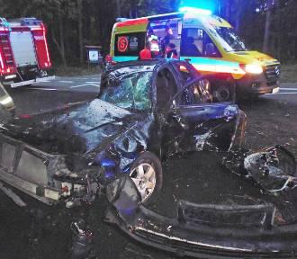 Wypadek na trasie Gardeja - Grudziądz. Kierowca zbiegł