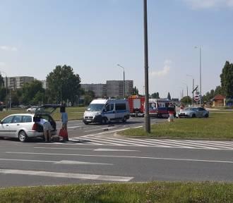 Wypadek na skrzyżowaniu na inowrocławskim Rąbinie [zdjęcia]
