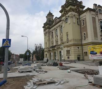 Strefa wejścia Teatru C.K. Norwida w przebudowie