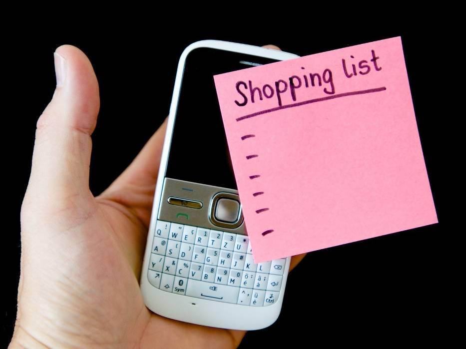 9. Rób listę zakupów