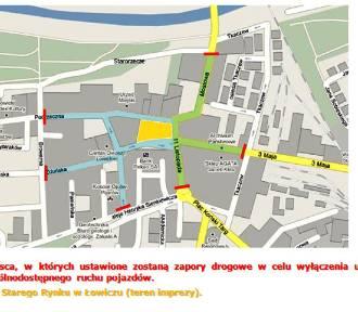 Zabawa choinkowa zablokuje ruch kołowy w centrum Łowicza