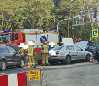 Wypadek w Dąbrowie Górniczej DK S1 skrzyżowanie z Kusocińskiego