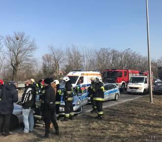 Wypadek na Wrocławskiej w Opolu. Trzy osoby poszkodowane