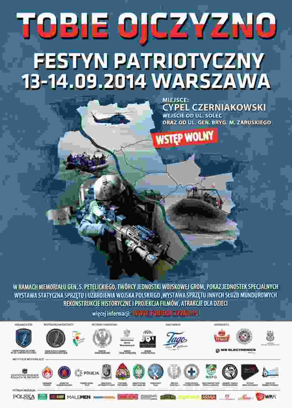 """Festyn patriotyczny """"Tobie Ojczyzno"""" 13-14 września"""