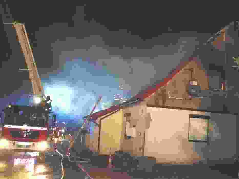 Pożar domu w Rudnie
