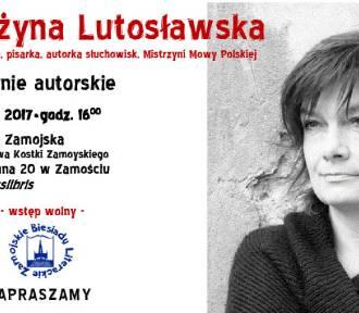 Grażyna Lutosławska gościem Biesiady Literackiej w Książnicy Zamojskiej.