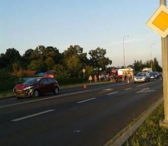 Samochód zderzył się z motocyklem