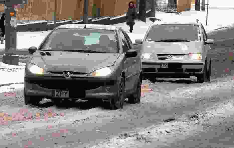 Kierowcy mieli wczoraj ciężki warunki. Dziś jest lepiej, bo nie pada śnieg.