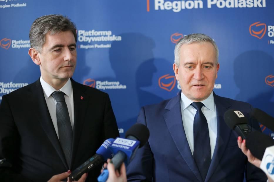 Do BIelska przyjadą m.in. wicemarszałek Maciej Żywni i poseł Robert Tyszkiewicz