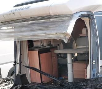 Policjanci znaleźli kradzione kampery i części samochodów w Lublinie i gminie Głusk
