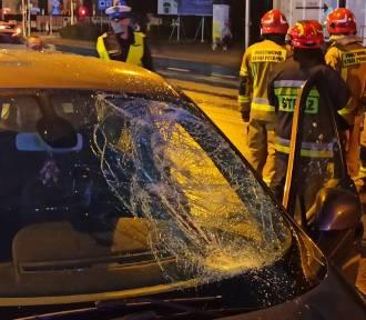 Tragiczny wypadek w Kaliszu. Nie żyje pieszy potrącony na ulicy Górnośląskiej. FOTO