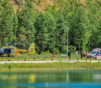 Jaworzno: Wypadek w bazie nurkowej FILM ZDJĘCIA Wezwano śmigłowiec LPR